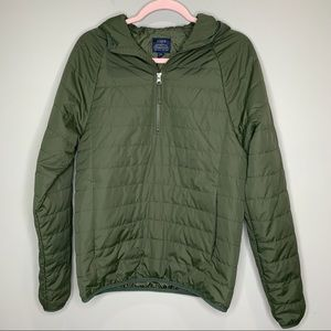 J Crew Outerwear 1/4 Zip Jacket Hunter Green XS